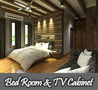 Bed Room & TV Cabinet